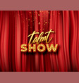 talent show banner poster gold vector image