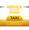taxi car service background sign taxi city vector image vector image