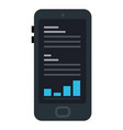 trading app for smart phone icon flat isolated vector image