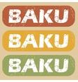 Vintage Baku stamp set vector image vector image