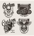 vintage custom motorcycle prints vector image vector image