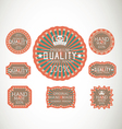 Vintage label Style with eight Design Element vector image vector image