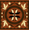 wooden art inlay tile geometric ornament from vector image vector image