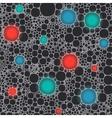 Seamless irregular colorful foam bubbles vector image