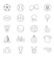 Sport Icons Line Set Of copy vector image