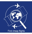 search the airline tickets vector image
