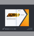 abstract double-page brochure material design vector image vector image