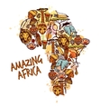 Africa Sketch Concept vector image vector image