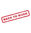 Back To Work Text Rubber Stamp vector image vector image