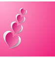 background with pink paper hearts vector image vector image