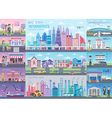 Big City Infographic set vector image vector image