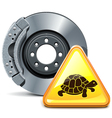 Brake with Sign vector image vector image