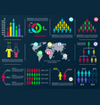 business infographic design elements vector image