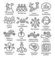 Business management icons in line style Pack 02 vector image vector image