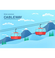 cable car with place for text vector image vector image