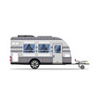 car rv trailer isolated icon vector image vector image