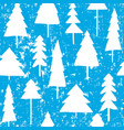 christmas and new year seamless pattern with trees vector image vector image