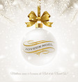 christmas greeting in french vector image vector image