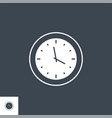 clock related glyph icon vector image vector image