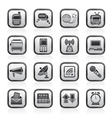 Communication and connection icons vector image
