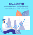 corporate data analytics flat web banner template vector image vector image