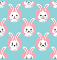 cute little bunny seamless pattern vector image vector image
