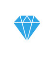 diamond icon graphic design template vector image vector image