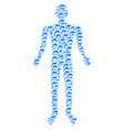 dolphin person figure vector image vector image