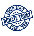 Donate today blue round grunge stamp