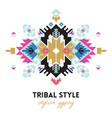 ethnic design card template geometric tribal vector image