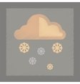flat shading style icon cloud Snow vector image