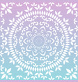 floral mandala in soft chalky pastel colors vector image vector image