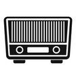 fm radio icon simple style vector image vector image