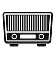 fm radio icon simple style vector image