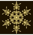 Golden Snowflake On A Dark Background vector image