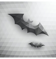 Halloween Bats On Abstract Mosaic Background vector image