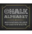 Hand drawn alphabet on chalkboard vector image vector image