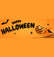 happy halloween banner or party invitation vector image
