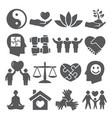 harmony icons set on white background vector image vector image