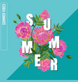 hello summer botanical tropical design vector image vector image