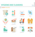 hygiene icon set vector image vector image