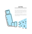 icons asthma vector image vector image