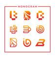 inspirational monogram letter b design vector image
