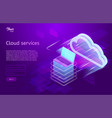 isometric showing the cloud vector image vector image