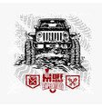 jeep wrangler - suv car on white - elements vector image vector image