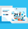 landing page for scholarship education program vector image vector image