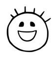 line emoticons icon smile joy emoji vector image vector image