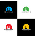 m logo icon flat and design template vector image vector image