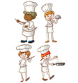 Male and female chefs vector image