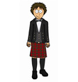 Man in scottish kilt vector image vector image